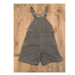 American Apparel Overall Shorts Stripe XS